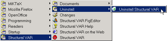 To uninstall Structural VAR. But why would you want to do that...